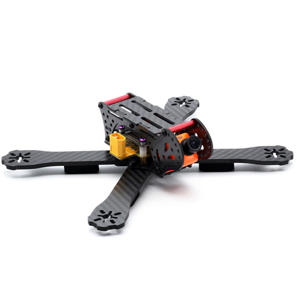 New Arrival DIY PDB Board 220mm Wheelbase 3K Carbon Fiber 4mm Arm Frame Kit For RC Multicopter FPV Racer Drone
