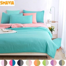 SMAVIA Hot Sale Home Textile 3/4 pcs Polyester Bedding Sets Include Quilt Cover Bed Sheet Pillowcase King Queen Full Twin Size
