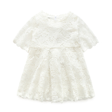 Summer Spring Girls Baby Kids Bebe Dress Princess Party Cute Wedding Lace Dress Clothing For Girls 4-9Y