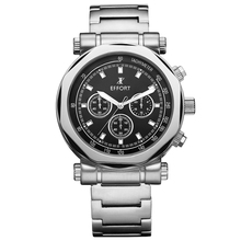 2016 Special Offer Effort Authentic Brand Men's Full Steel 6 Hands Sports Male Chronograph 3 Atm Hand Quartz Wrist Watch