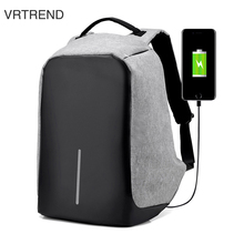 VRTREND USB Charge Anti Theft Backpack Men Travel Security Waterproof School Bags College Teenage Male 15inch Laptop Backpack