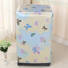 Home Floral Washing Machine Cover Protective Case Bathroom Waterproof Sunscreen Washer Dryer And Cover Fully-automatic(China)