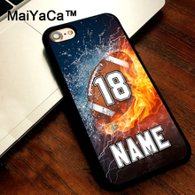 MaiYaCa PERSONALIZED NUMBER NAME Football cover soft TPU Rubber Skin Mobile Phone case For iPhone 5s SE 5 funda Coque Back Shell(China)