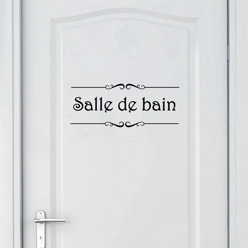 HTB1wLWrXLal9eJjSZFzq6yITVXax - Porte Salle de bain et Toilettes French Bathroom Sticker