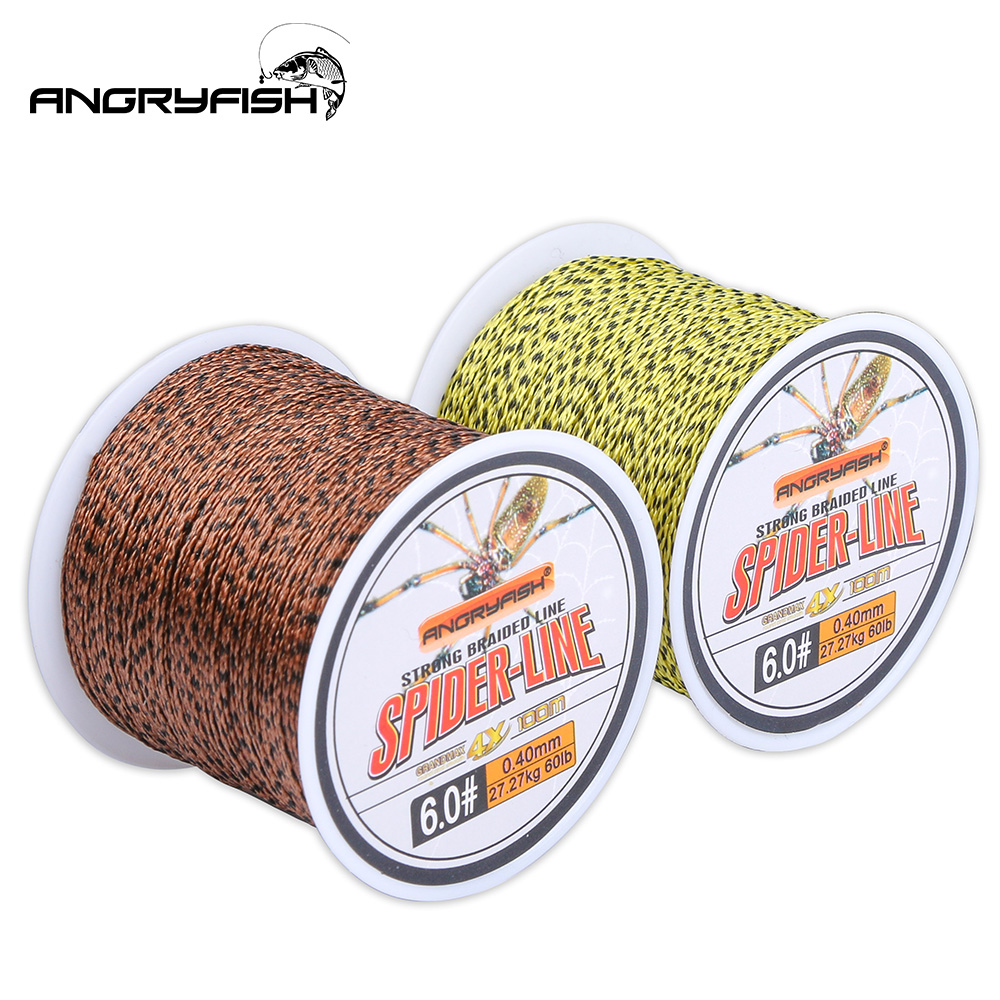 Angryfish 5pcs sale 4Strand 100M PE Braided Fishing Line 110yds Super Strong Multifilament Fishing Line Fishing Tackle title=