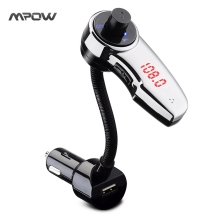MBT9 Mpow Streambot Flex Wireless Car Stereo Bluetooth FM Transmitter Audio Receiver Radio Adapter for Speaker Handsfree Calling(China)