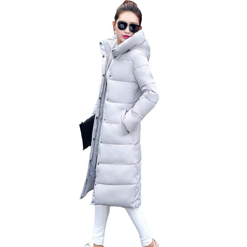 2017 hot sale Solid hooded collar parka long coat Down cotton full Sleeves thicken jacket Regular winter women Snow outwear NEWÎäåæäà è àêñåññóàðû<br><br>