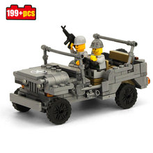 199pcs Military Toy Soldiers Carry Gun Building Block Toys Compatible Legos Wars Weapon Classic Military Vehicle Model Boys Toys(China)