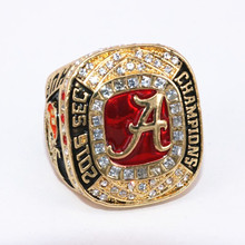 USA Size 11 2017 New Arrival NCAA 2016 Alabama Crimson Tide Football National Championship Ring Replica HURTS Drop Shipping