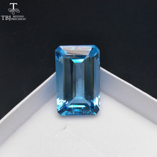 Tbj ,Unique 64.35ct Natural Blue Topaz in emerald cutting loose gemstone for gemstone jewelry ,Design your jewelry material(China)