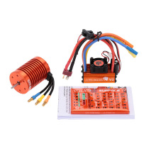 12T 3300KV Brushless Motor+60A Brushless ESC with 5V/2A BEC Linear Mode+Program Card Combo Set for 1/10 RC Car(China)