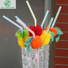 50PCS/Lot 3D Fruit Cocktail Paper Straws Umbrella Drinking Straws Party Decoration Color Assorted(China)