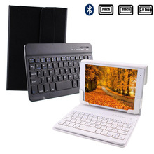 Leather Case Bluetooth 3.0 Touchpad Keyboard stand Case Cover For ipad mini/Samsung Galaxy Tab/Google Nexus/Lenovo/for HP/Acer