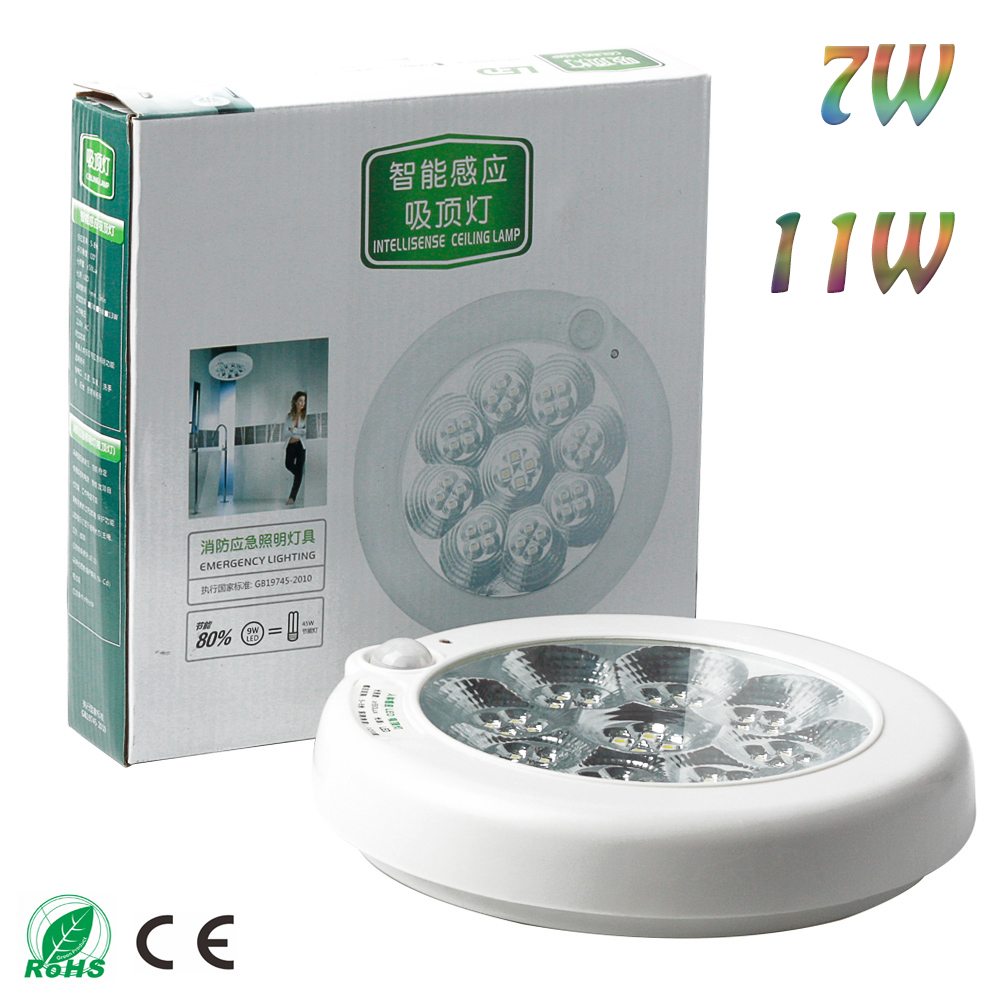 7W/11W AC 85-265V White  LED Sound Induction Ceiling Light Lamp Lighting Corridor Fire Emergency Light For Indoor<br><br>Aliexpress