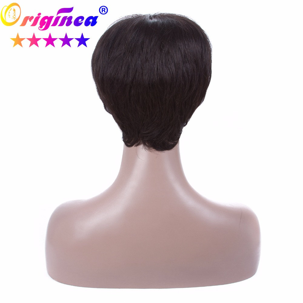 Door to Door Originea Short Human Hair Wigs For Black Women Brazilian Remy Human Hair Straight Short Wig Free Shipping