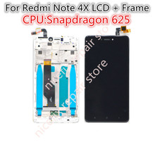 "For 5.5"" Xiaomi redmi note 4X note 4 Global Version Snapdragon 625 LCD screen display+ touch digitizer with frame free shipping(China)"
