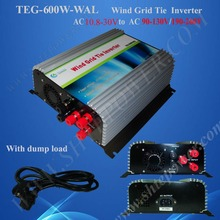 12v grid connect inverter 600w, pure sine wave 600w on grid tie inverter for wind turbine, three phase inverter(China)