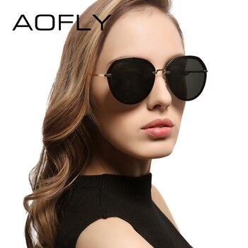 Aofly moda óculos de sol elegantes tons estilo popular do verão óculos de sol das mulheres designer de marca com caixa original uv400 af79154