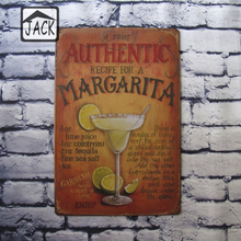 Recipe for a Cocktail Advertising Plaques Metal Tin Plate Poster 20X30CM Vintage Tin Signs Bar Club Cafe Shop home Wall Decor