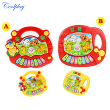 Coolplay 2 styles Wholesale Baby Kid's Animal Farm Mobile Piano Smart Music Toy Electric ENGLISH Early /Xmas Gift