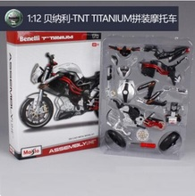 Maisto 1:12 Benelli TNT Titanium Assembly Line DIY diecast Motorcycle Model