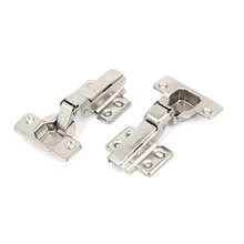 UXCELL Cabinet Door Cupboard Drawer Metal Self Closing Half Overlay Concealed Hinges 2Pcs(China)