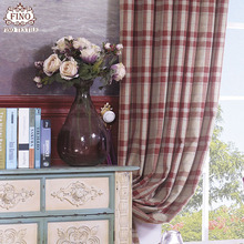 Red Plaid Curtain Fabric For Bedroom Imitation Cashmere Thicker Window Panels Luxury Blinds Insulated Thermal Elegant Drapes New(China)