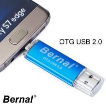 2017 Bernal hot sell metal 16gb OTG usb flash drive 32gb pendrive high speed usb 2.0 Flash drive 16gb flash disk Pen Drive 64gb(China)