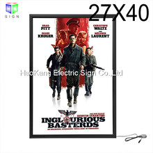 27 x 40 Inch Movie Posters Adertising Black Aluminum Frame Led Light Box Display , Backlit advertising Poster Frame(China)