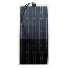 ECO-WORTHY 2PCS 100w semi flexible solar panels 200watt portable mono solar modules with 15A Solar Charger Controller(China)