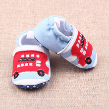 Lovely Baby Boys Girls Classic Leisure First Walkers Shoes Newborn Cartoon Toddler Shoes Soft Slipper Baby Crib Shoes V49(China)
