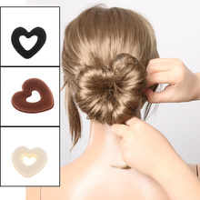 1 Set Hair Donut Bun Heart Maker Magic Foam Sponge Hair Styling Tool Princess Hairstyle DIY Hair Bands  Gift Hair Accessories