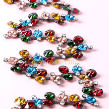 Multicolor Crystal Rhinestone band DIY fascinator crown Wedding Accessory evening bag dress bridal belt collar hat hair ornament(China)