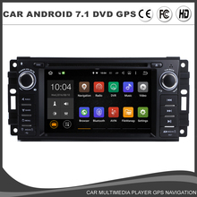 Android 7.1.1 Car DVD GPS Player For Jeep Grand Cherokee Commander Compass Patriot Wrangler Radio BT Wifi 2G RAM+16G ROM+16G Map