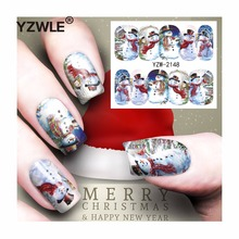 YZWLE 1 Sheet Christmas Design DIY Decals Nails Art Water Transfer Printing Stickers Accessories For Manicure Salon (YZW-2148)(China)