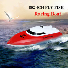 CP802 4CH FLY Fish Airship Racing Boat Wireless Radio Remote Control Mini High-speed Boat Model Ship with US Plug Kids Toy ^(China)
