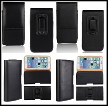 Belt Clip Holster Pouch Case For iPhone 3GS 4 4S 5 5S 5C SE 6 6S Plus Universal Leather Pouch Mobile Phone Accessory Bag Cover(China)