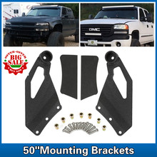 For Chevrolet Silverado GMC Sierra 1999-2006 Mount Bracket Fit 50 inch Straight Light Bar Upper Windshield Mount Brackets
