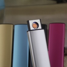 Hot USB Electronic Rechargeable Lighter Metal Flameless Windproof Cigarette Lighter Plasma Lighter No Gas Lighter Smoking Tools