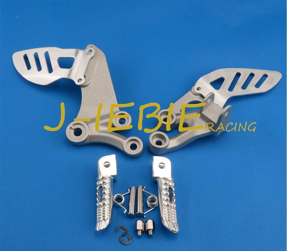 Front rider Foot pegs Brackets For Suzuki GSXR 600/750 GSXR600 GSXR750 2006 2007 2008 2009 2010 SILVER<br>