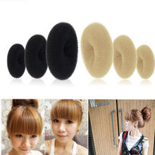 1pc Women Magic Blonde Donut Hair Ring Bun Former Shape Styler Maker Tool Accessories 2 colors 3 sizes