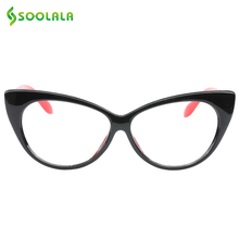 SOOLALA Cat Eye Reading Glasses Women Men Lightweight Presbyopic Reading Glasses +0.5 0.75 1.0 1.25 1.5 1.75 2.0 2.5 3.0 3.5 4.0(China)