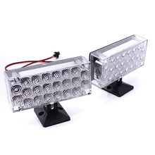 NEW 2pcs 22 LED Red Flashing Emergency Light Hazard Gril Warning Strobe Flash Lamp Traffic Light Roadway(China)