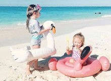 Inflatable Safety Swim Ring Kid Children Baby Life Buoy Flamingo Swan Air Mattress Circle Beach Pool Water Safety Products(China)