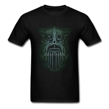 T Shirt Custom Printing Vikings Valhalla Odin 2 Male Summer Short Sleeve Cotton Tee Shirt XXXL