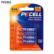 PKCELL 4PCS 1.5V Battery AAA Alkaline Zinc-manganese Dioxide Dry Cell Batteries For Toys Remote Control Mouse