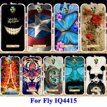 Silicon Cell Phone Cases For fly iq4415 iq 4415 quad era style 3 Housing Bag Skin Shell Covers Protector Rubber Shield Hood