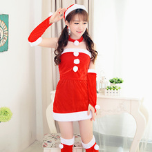 New Sexy santa Costume Xmas Miss Santa Claus Christmas Lingerie Mini Fancy Dress Party Sexy Costumes X14