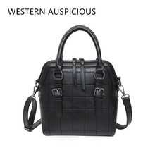 WESTERN AUSPICIOUS Women Handbags PU Leather Red Black Pink Fashion Lady Bags Car with Suture Women Messenger Bags 2017(China)