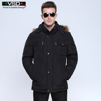 Victor et Sasha Conception 2016 Nouveau Long Hiver Vers Le Bas Veste Hommes de Haute Qualité Vêtements Casual Vestes Épaississement Parkas Mâle grand Manteau